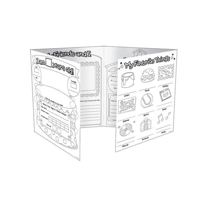 X DC CTP 6976 ALL ABOUT ME GR. K-2 FOLDOUT POSTERS