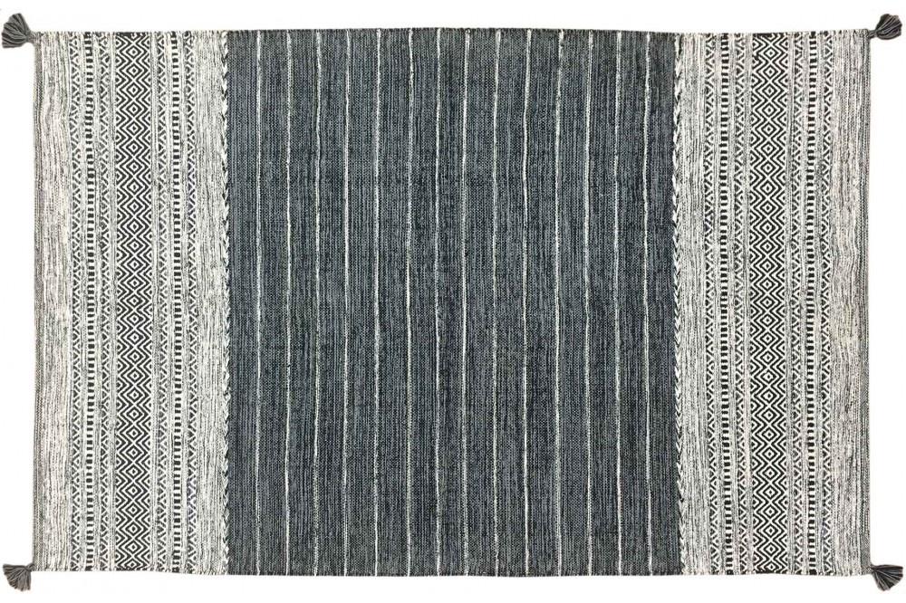 Rug Black & White pattern Large