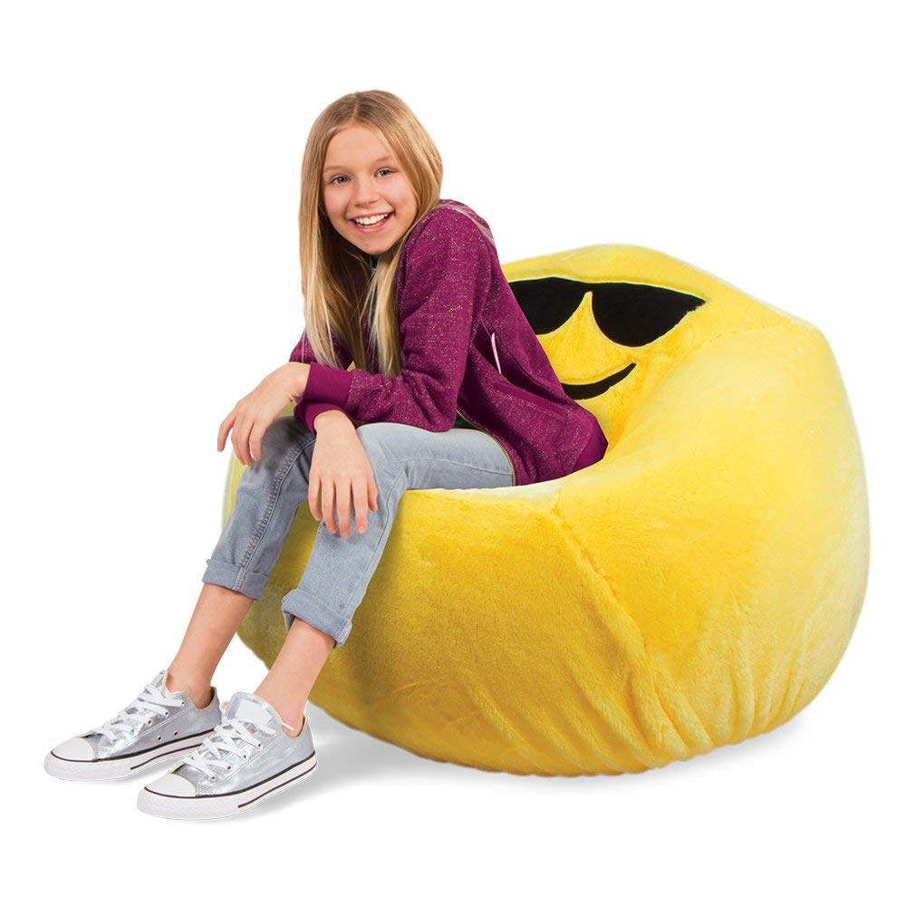 EMOJI INFLATABLE CHAIR & SUPER PLUSH COVER