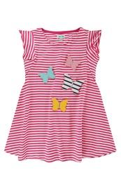 Butterfly stripe dress