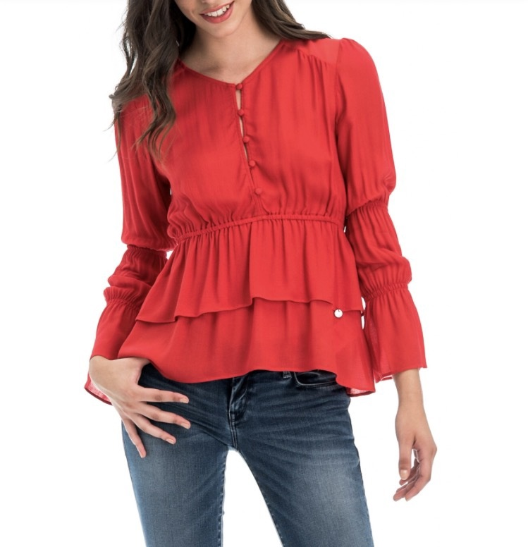 Salsa Red Blouse 119336