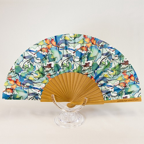 Hand Fan | Dancing Leaves