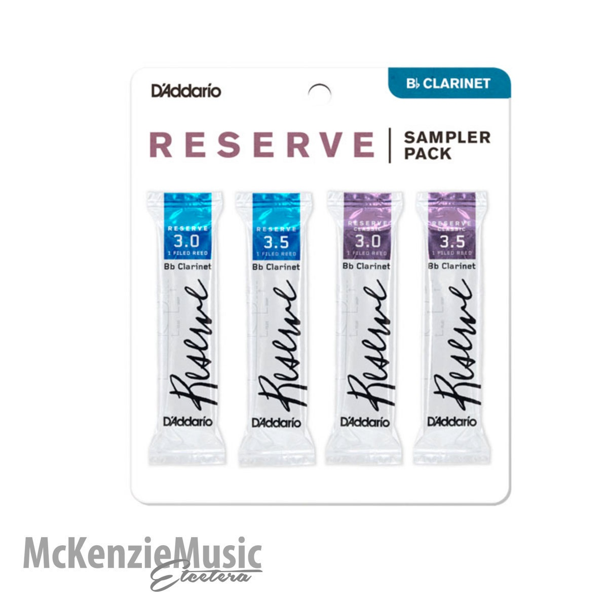 D'Addario Reserve Clarinet Sample Pack Size 3.0/3.5