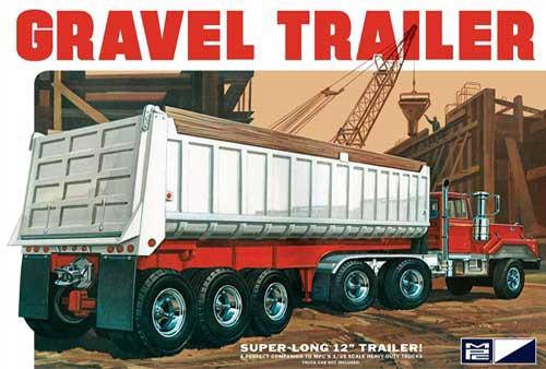 MPC #823 1/25 3 Axle Gravel Trailer
