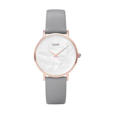 Cluse Watch CL30049 Minuit Pearl Face Grey Strap