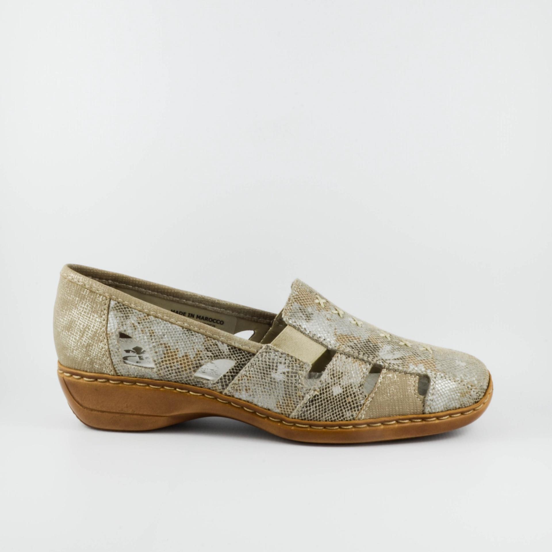 Rieker 41385 (beige or metallic)