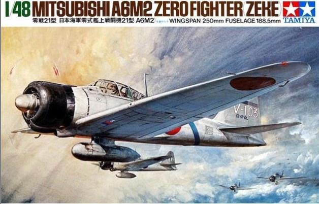 Tamiya #61016 . 1/48   Mitsubishi . A6M2 Zero Fighter