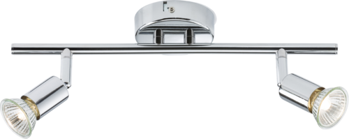 230V GU10 Twin Bar Spotlight - Chrome