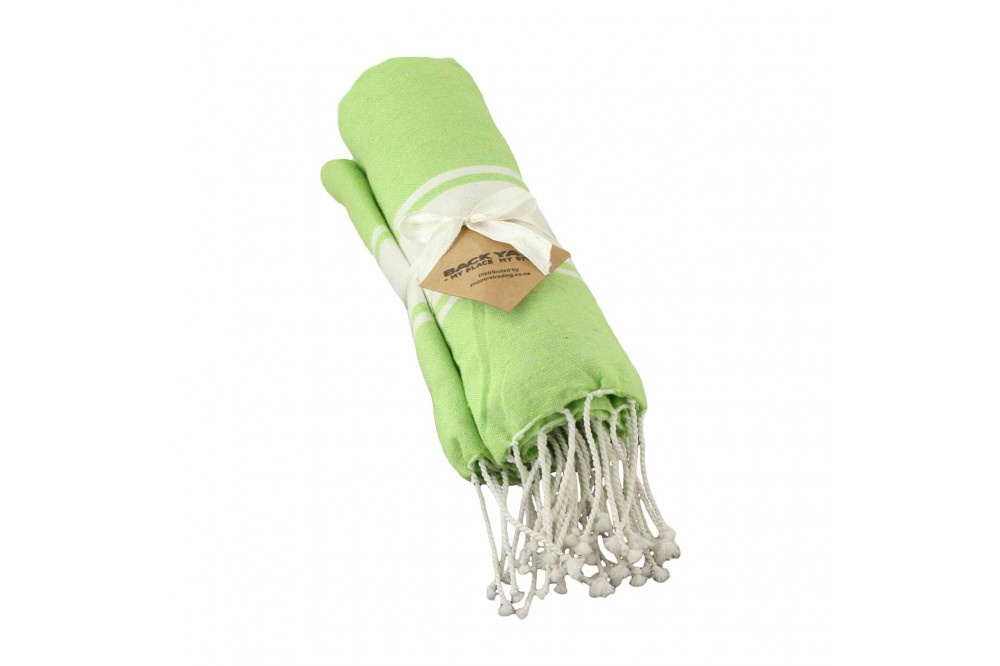 Cotton Towel Green wide band