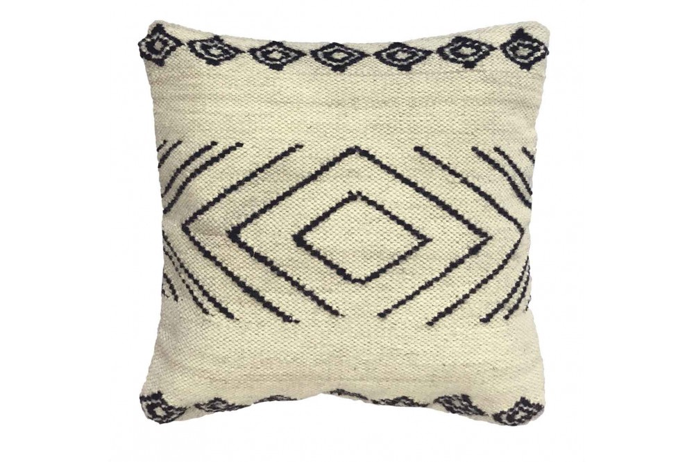 Cushion White with Black pattern