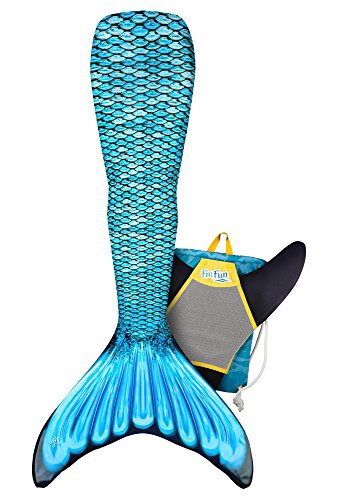FIN FUN MARIANA'S TIDAL TEAL MERMAID TAIL & MONOFIN XL