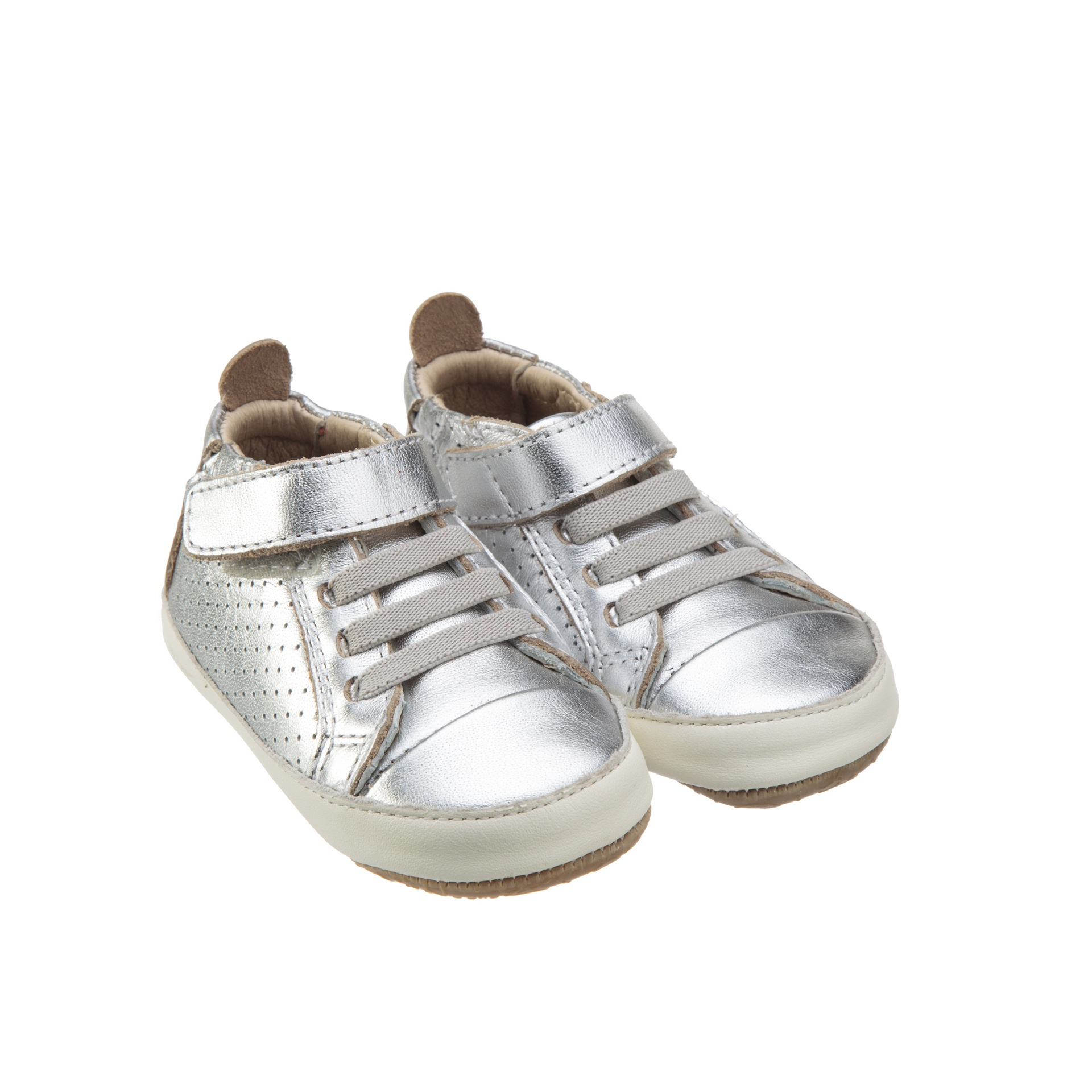 Old Soles Cheer Bambini Silver White Rubber Sole