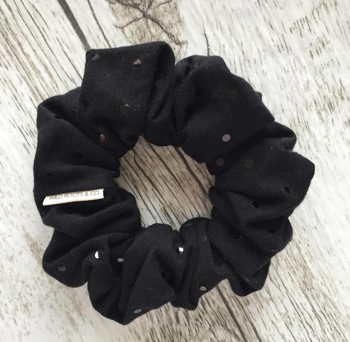 Black Disco Ball Scrunchie