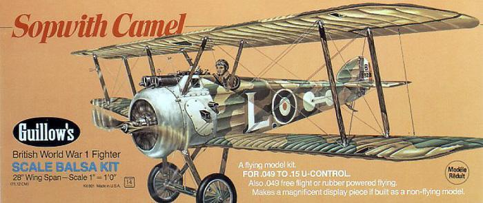 Guillows #801 Sopwith Camel