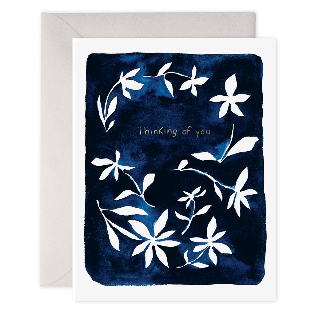 Thinking of You Indigo Flowers Card