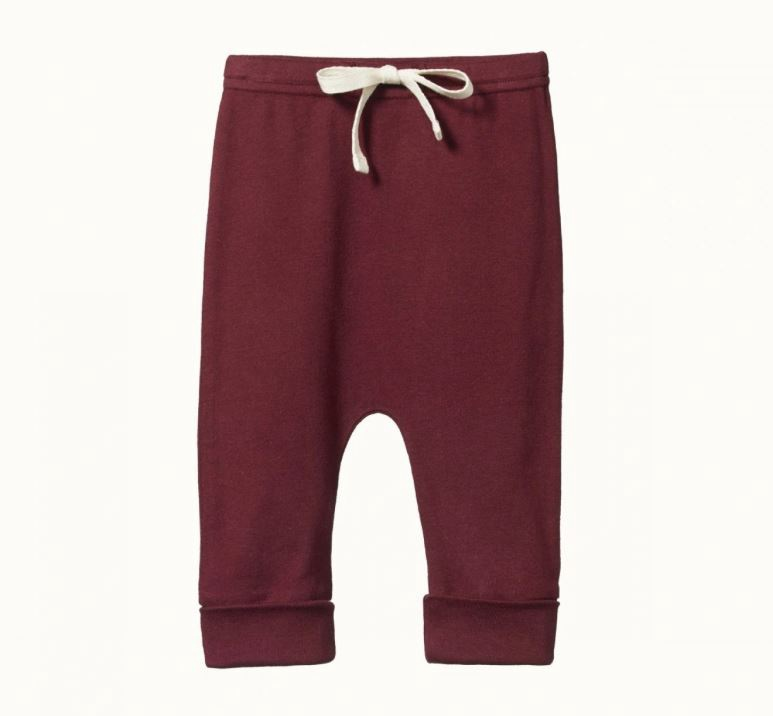 DRAWSTRING PANTS - ELDERBERRY