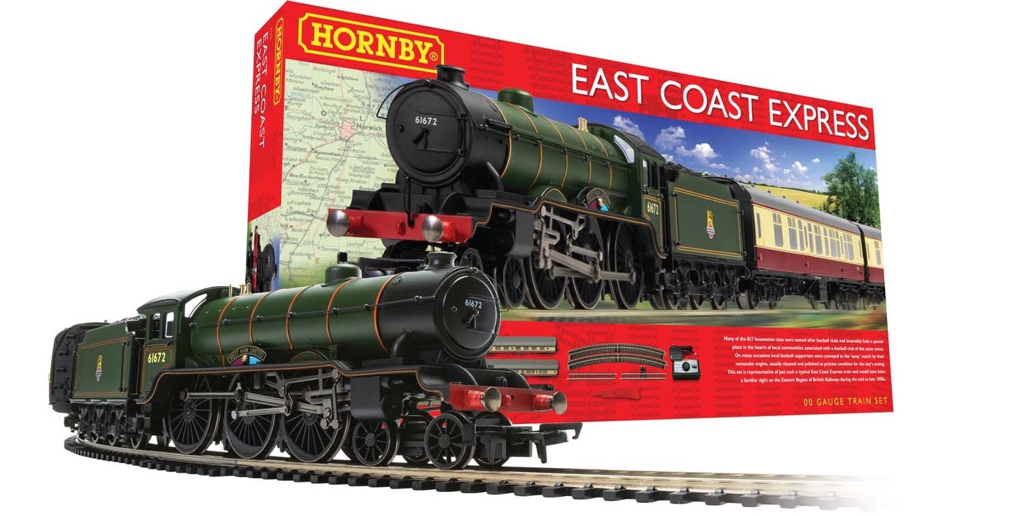 Hornby #R1214 OO East Coast Express Train Set