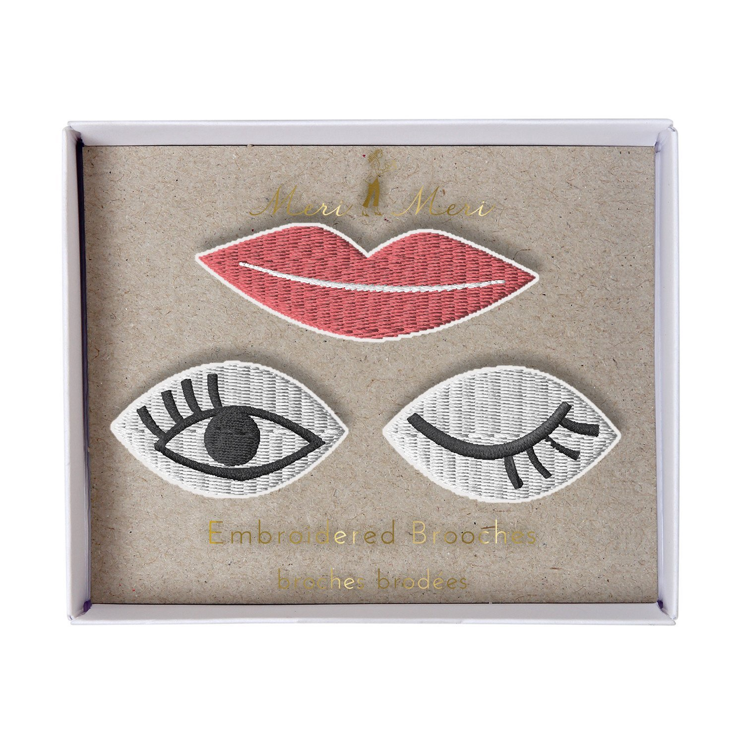 MERI MERI - EYES AND LIP BROOCH