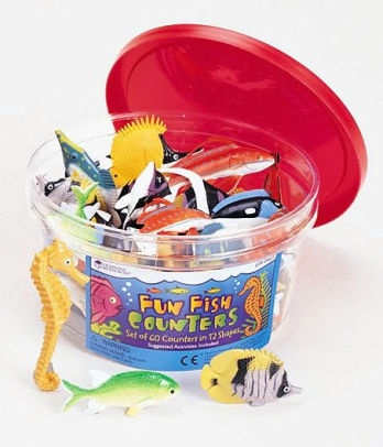 FUN FISH COUNTERS SET OF 60