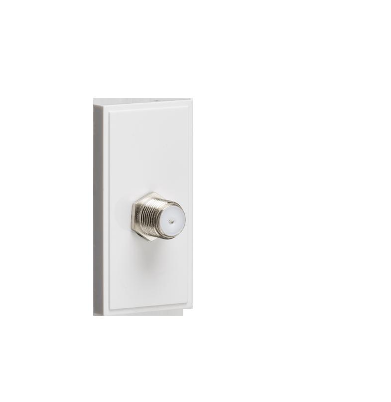 White Modular SAT TV Outlet (PCB)