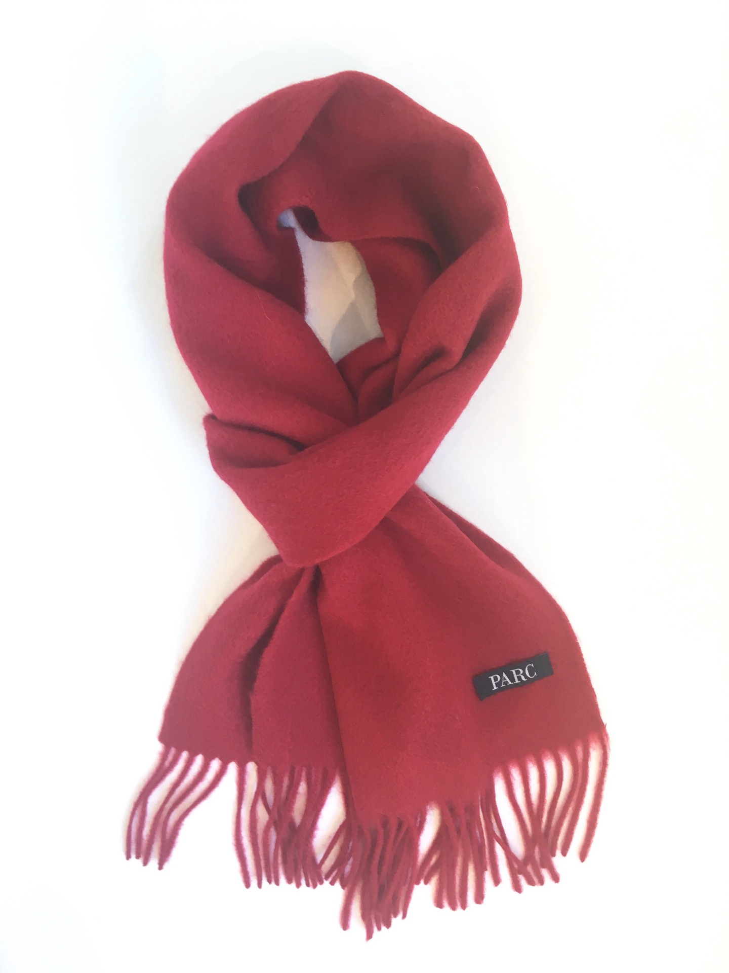 Parc City Boot Co. - Heavy Wool Scarf in Red Solid