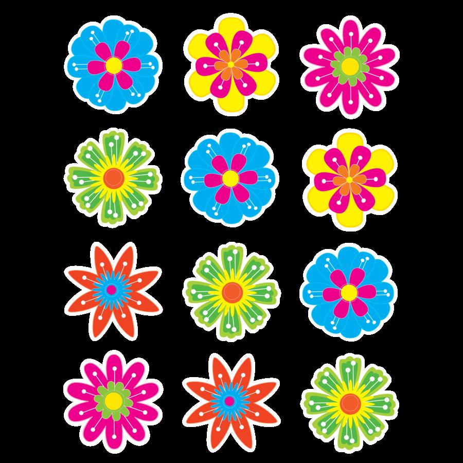 TCR 5395 FLOWERS MINI CUTOUTS
