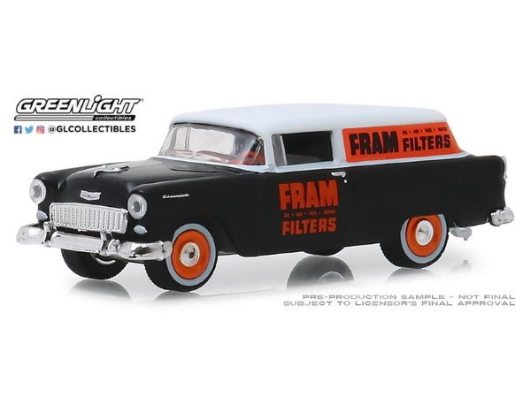Greenlight #41080-C 1/64 1955 Chevrolet One Fifty Sedan delivery (Fram)