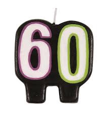 BIRTHDAY CANDLE 60