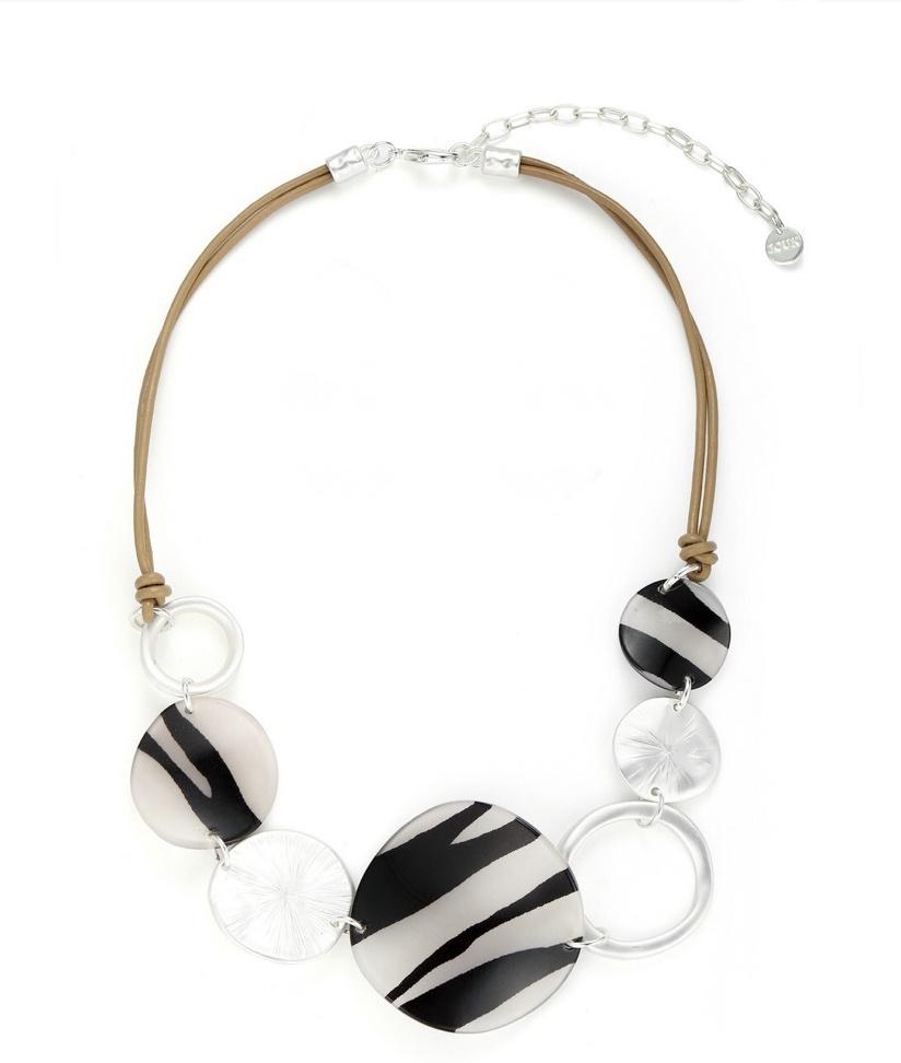Black & White Zebra Necklace