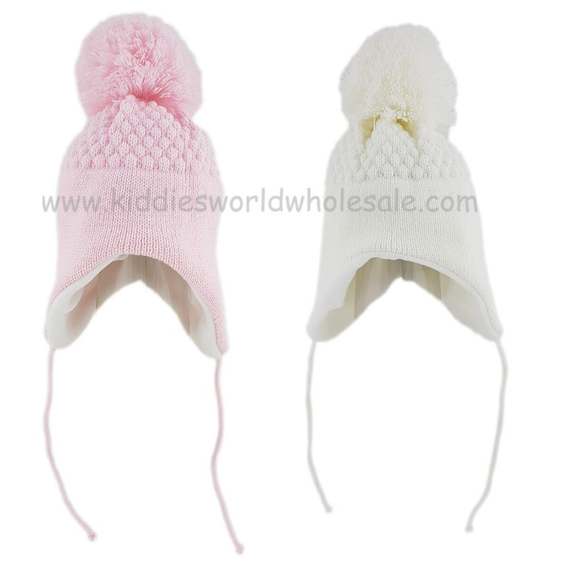 Baby Girl Honeycomb Knit Nepalese Hat (0-6 Months)