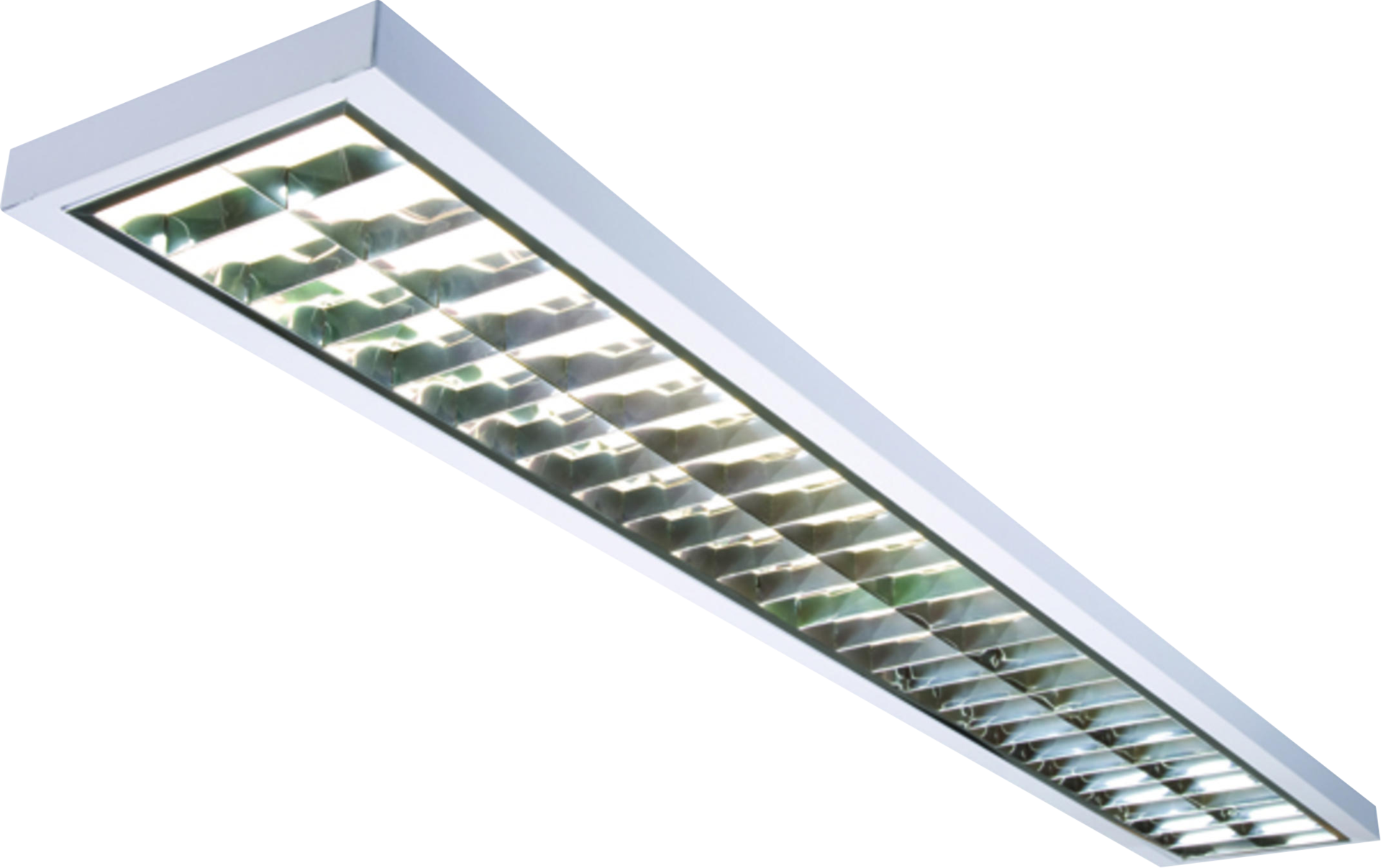 IP20 2x35W T5 Surface Mounted Emergency Fluorescent Fitting 1485x225x55mm