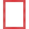 T 11426 POLKA DOTS RED COMPUTER PAPER