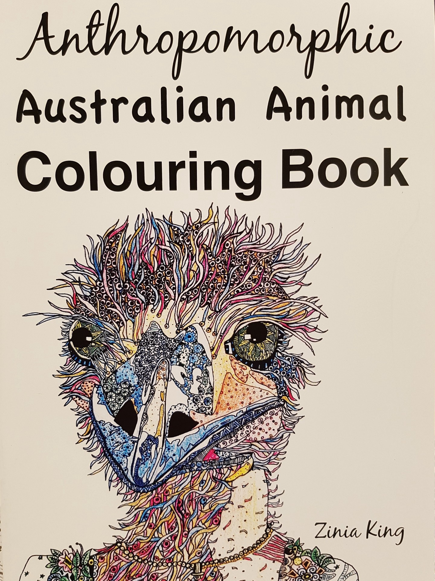 Anthropomorphic Australian Animal Colouring Book