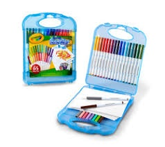 SUPERTIPS WASHABLE MARKERS & PAPER SET CASE