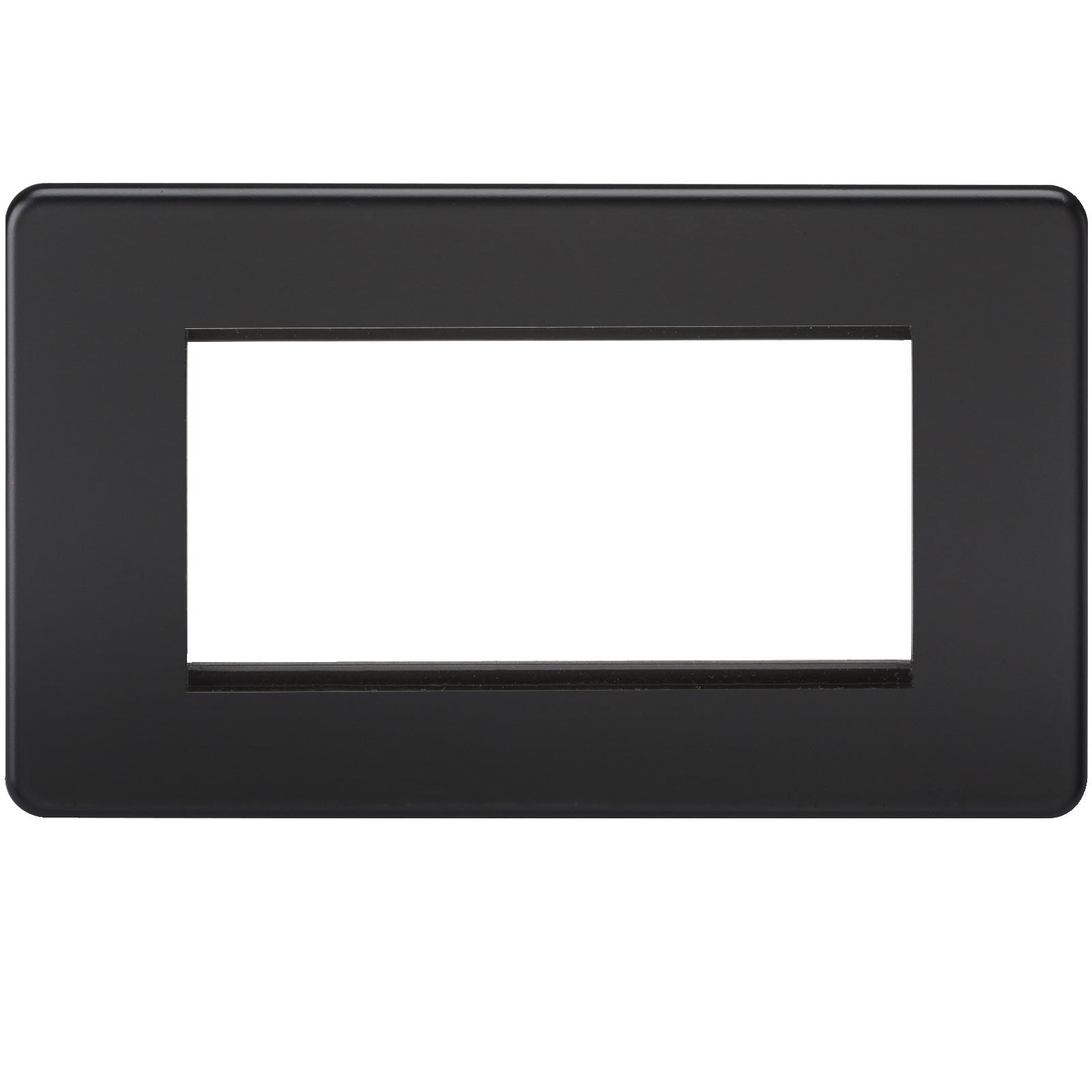SCREWLESS 4G MODULAR FACEPLATE - MATT BLACK