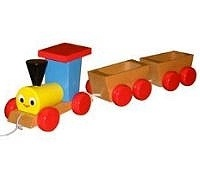 Wooden Toy Co Pull Along Train