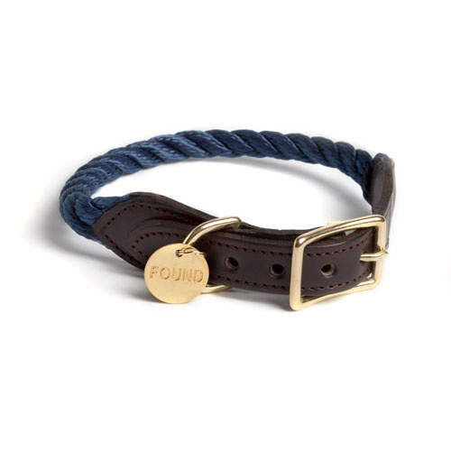 Navy Rope Dog Collar | Extra Large