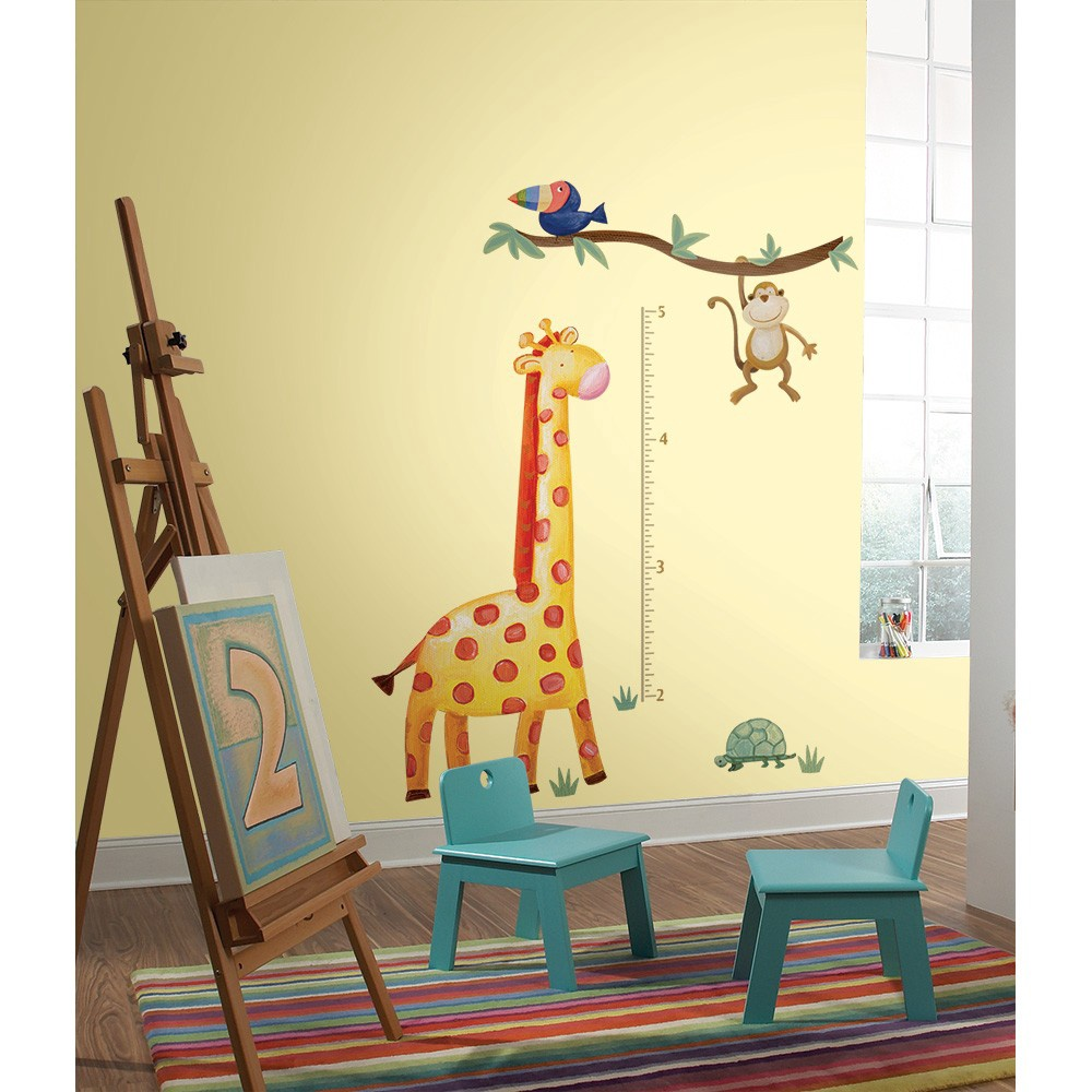 PEEL & STICK GIRAFFE GROW CHART