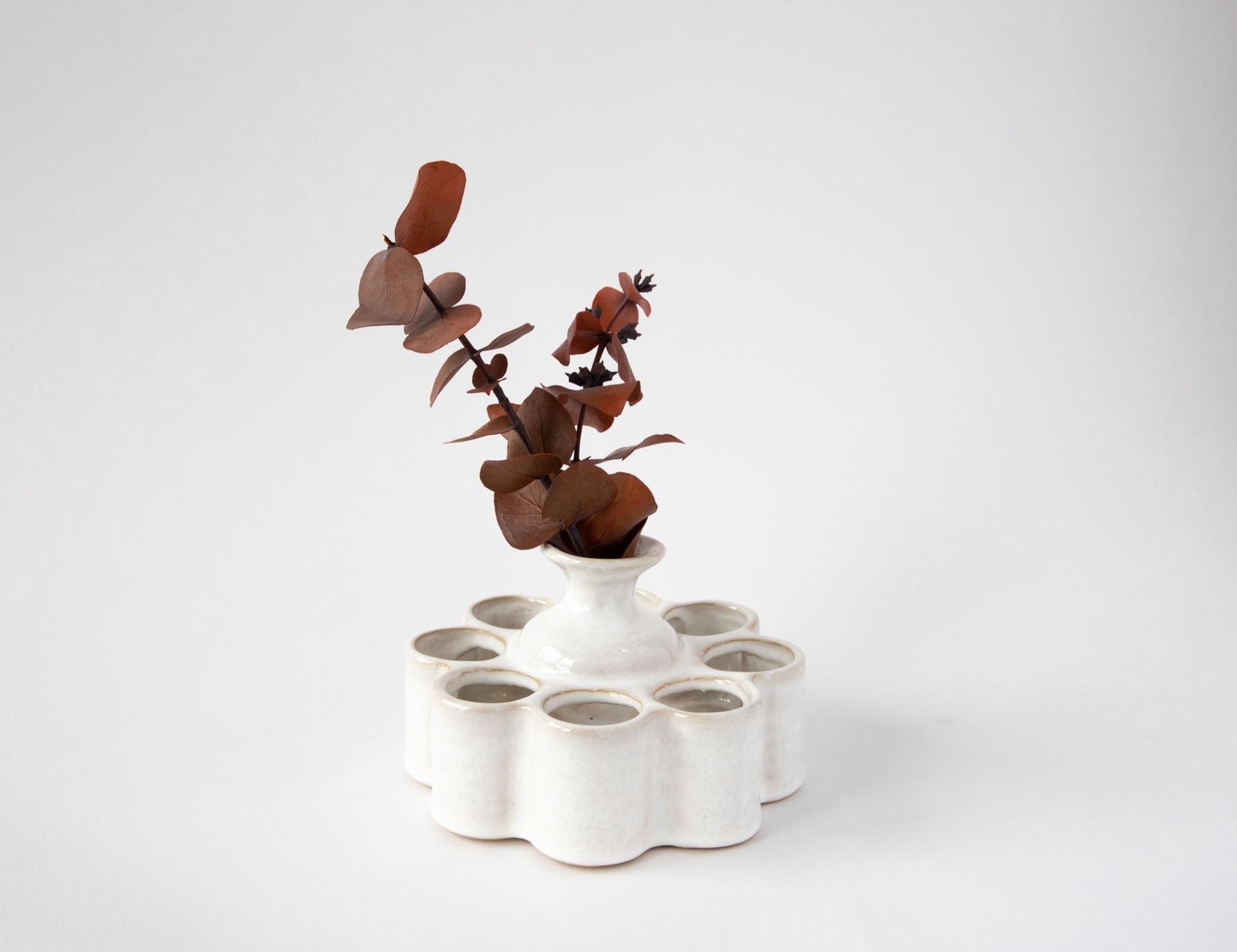 Stoneware Frog Vase