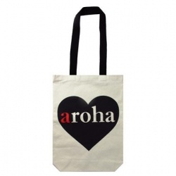 Bag Canvas Aroha Heart 40x30cm