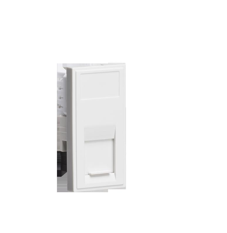 White Modular UTP CAT5E RJ45 Outlet