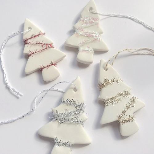 Yarn Christmas Tree Ornament