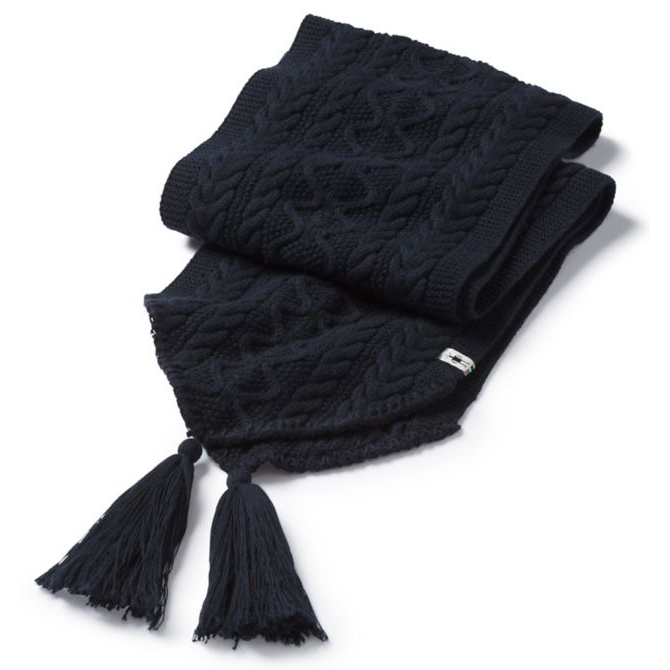 SMARTWOOL - BUNNY SLOPE SCARF IN BLACK