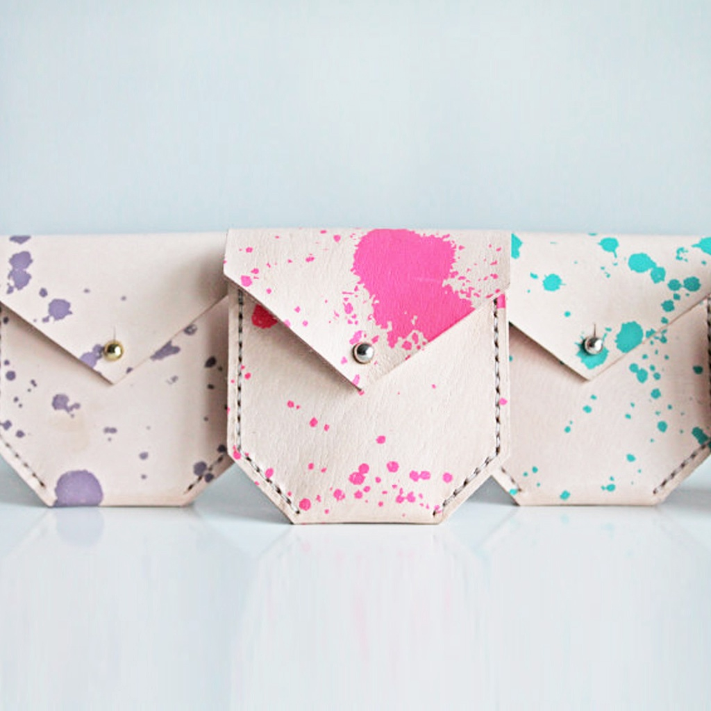Leather Pouch (Splatter Print)