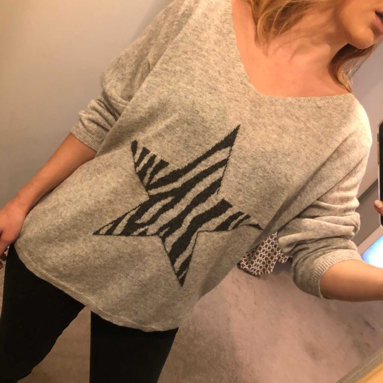MSH Animal Star Knit - Grey