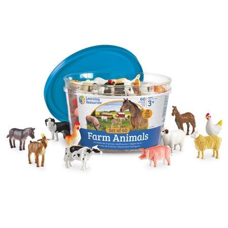 LER 0810 FARM ANIMAL COUNTERS-REALISTIC