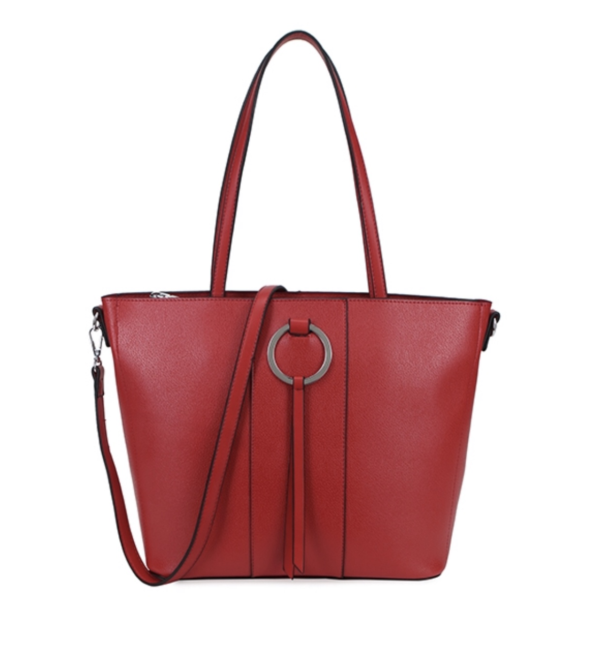 Annette Ring Front Tote (Red)