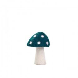 DOTTY MUSHROOM 11CM - DUCK BLUE