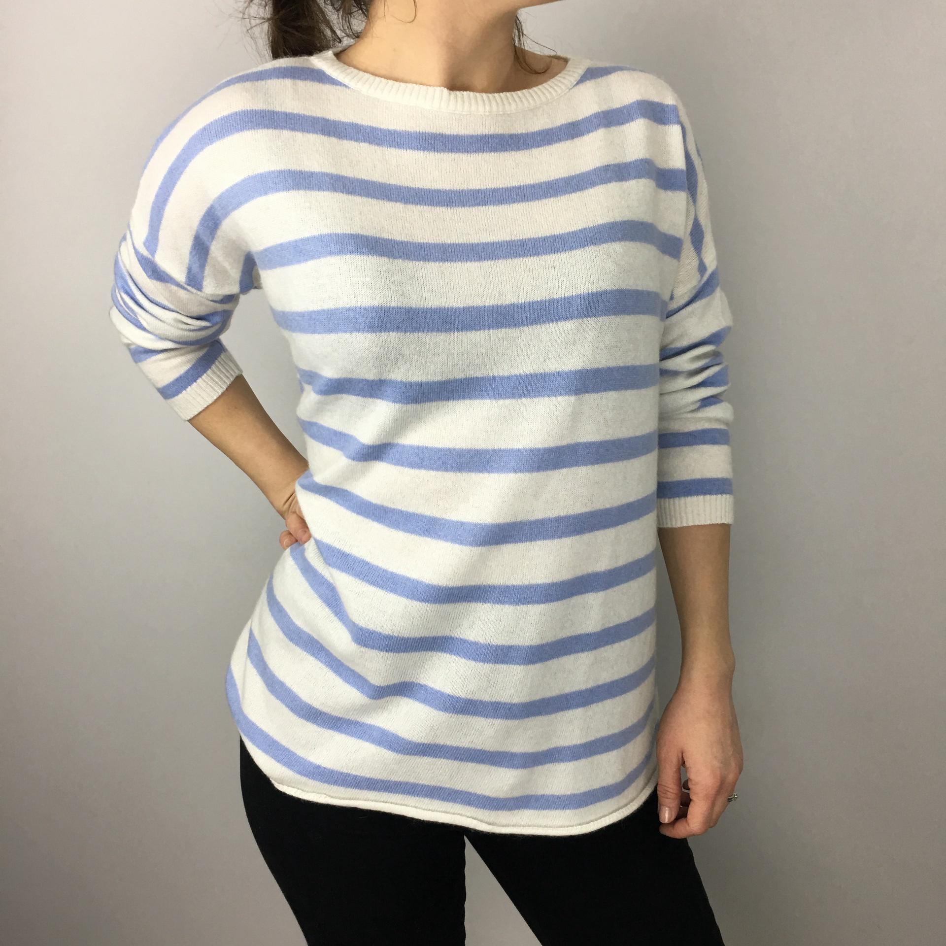 Luella Cashmere Breton Stripe - Blue