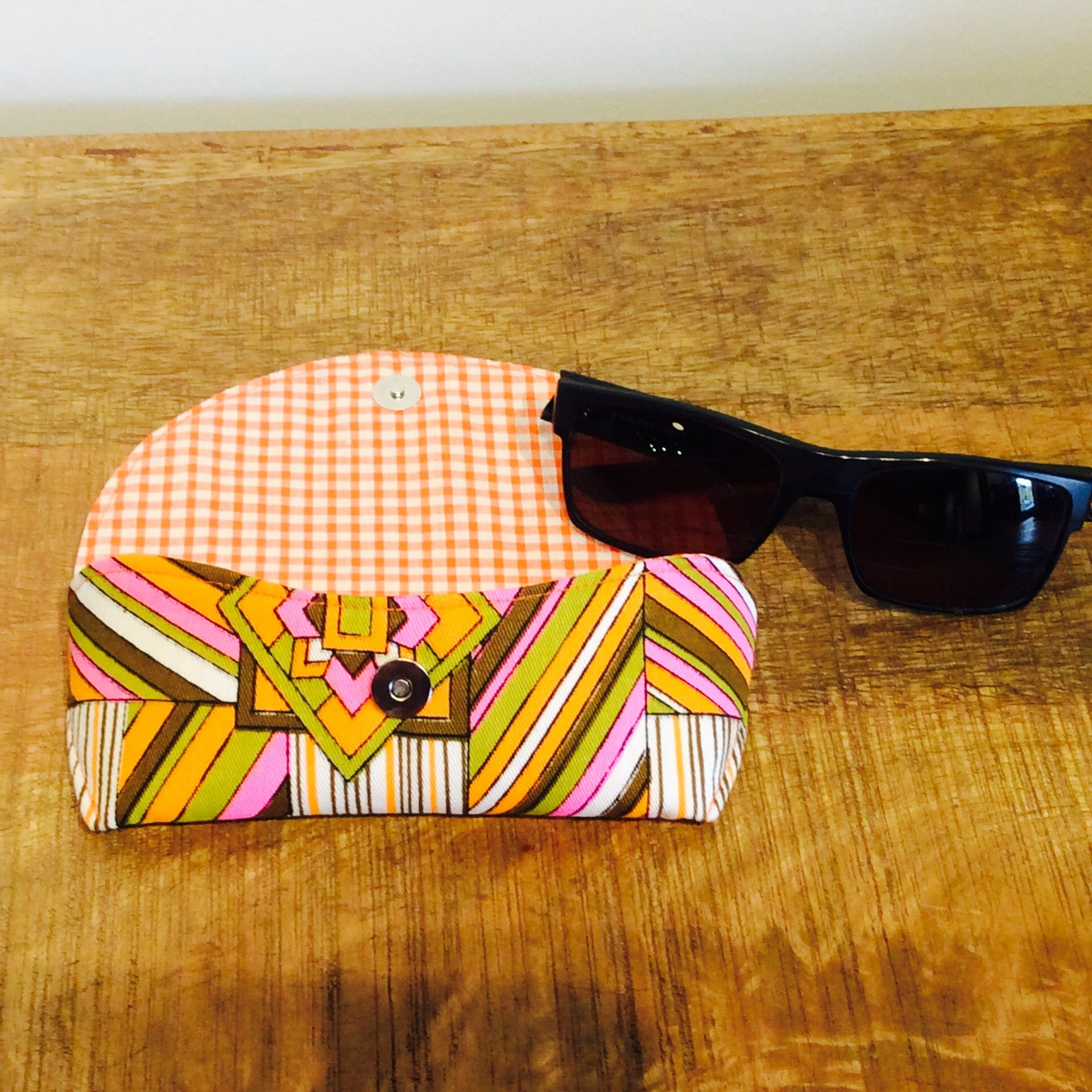 Funky Retro Fabric Glasses Case